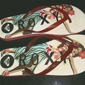 Roxy Hula Girl flip-flops Size 7